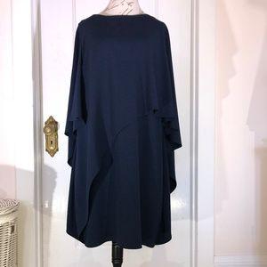 Halston Heritage Cape Dress - Navy size 14